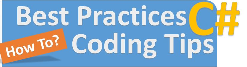 C# best coding practices