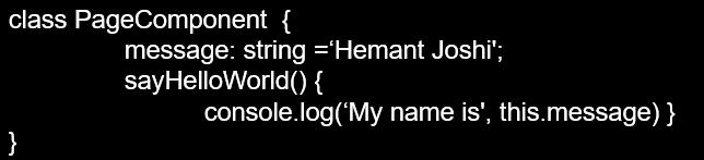 Angular Component block