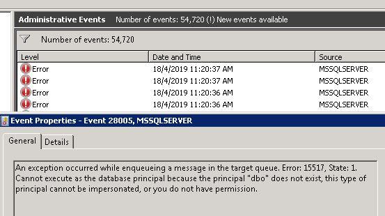 Fixing SQL Server Error 15517 : SharePoint Database